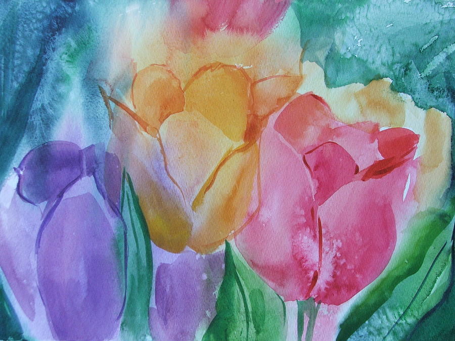 Floral Painting - Bright And Pretty by Dianna Willman