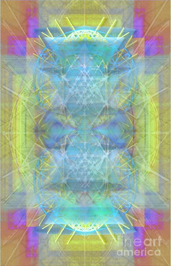 Bright Digital Art - Bright Chalice Ancient Symbol Tapestry by Christopher Pringer