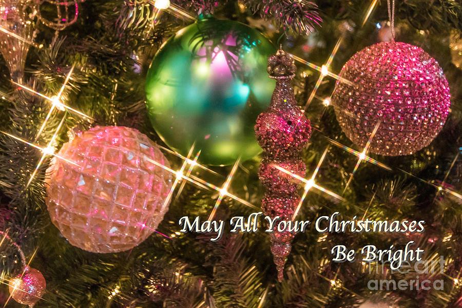Christmas Photograph - Bright Christmas Card by Susan Grube