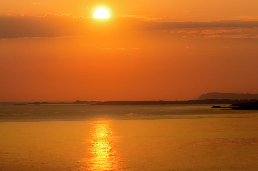 Landscapes Photograph - Bright Dawn Orb On Portrush,portstewart by Glen Sumner