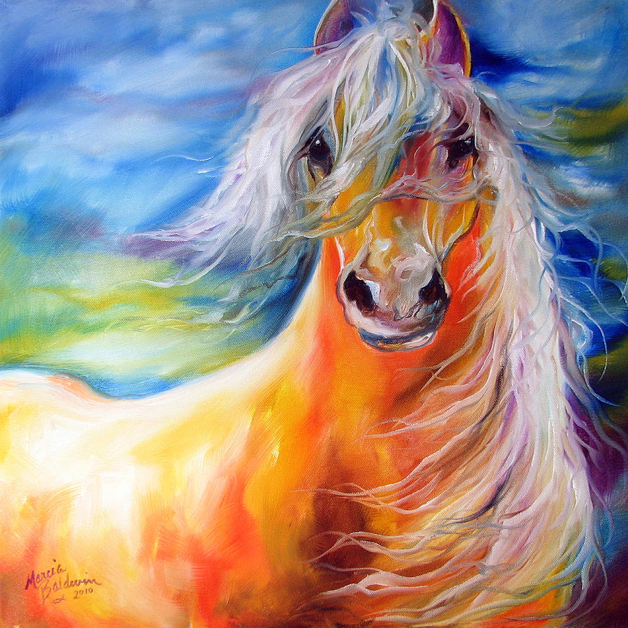 Bright Day Equine Painting by Marcia Baldwin