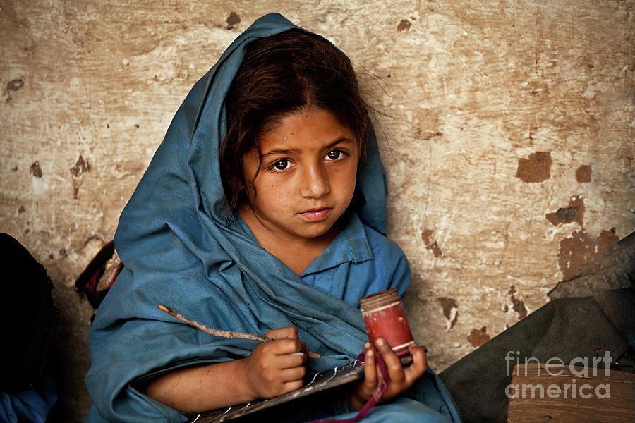 Girl Power Photograph - Bright Eyed Girl by Awais Yaqub