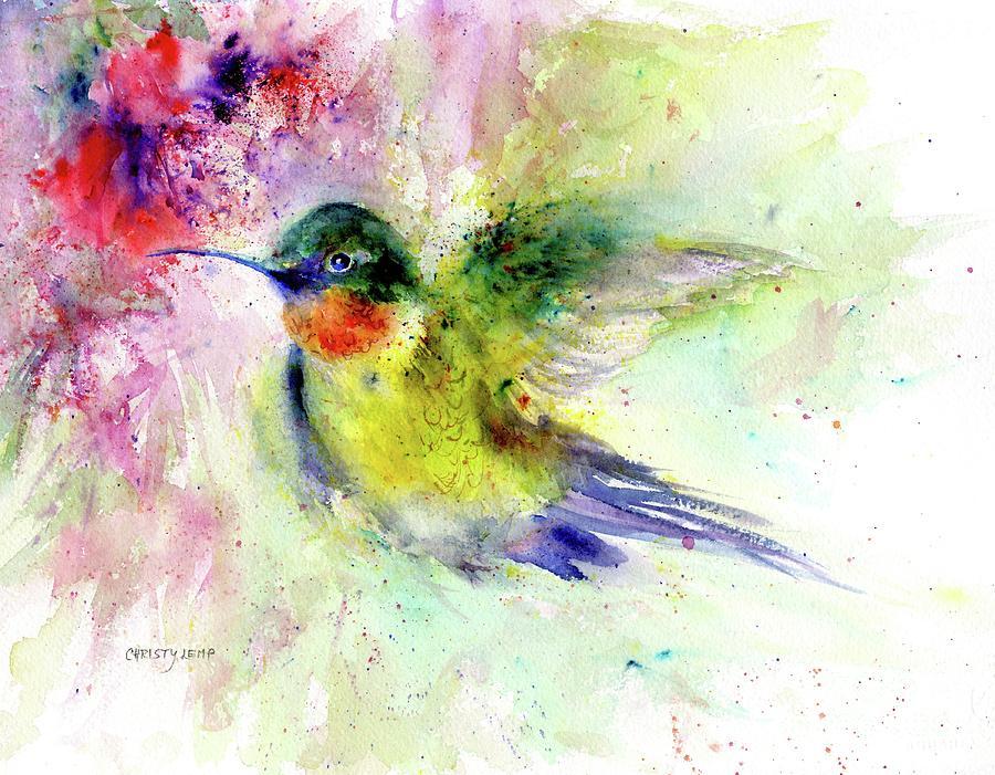 Bright Guy Hummingbird by Christy Lemp