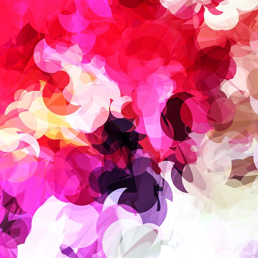 Bright Happy Color Abstract Design Digital Art by Sheila Wenzel