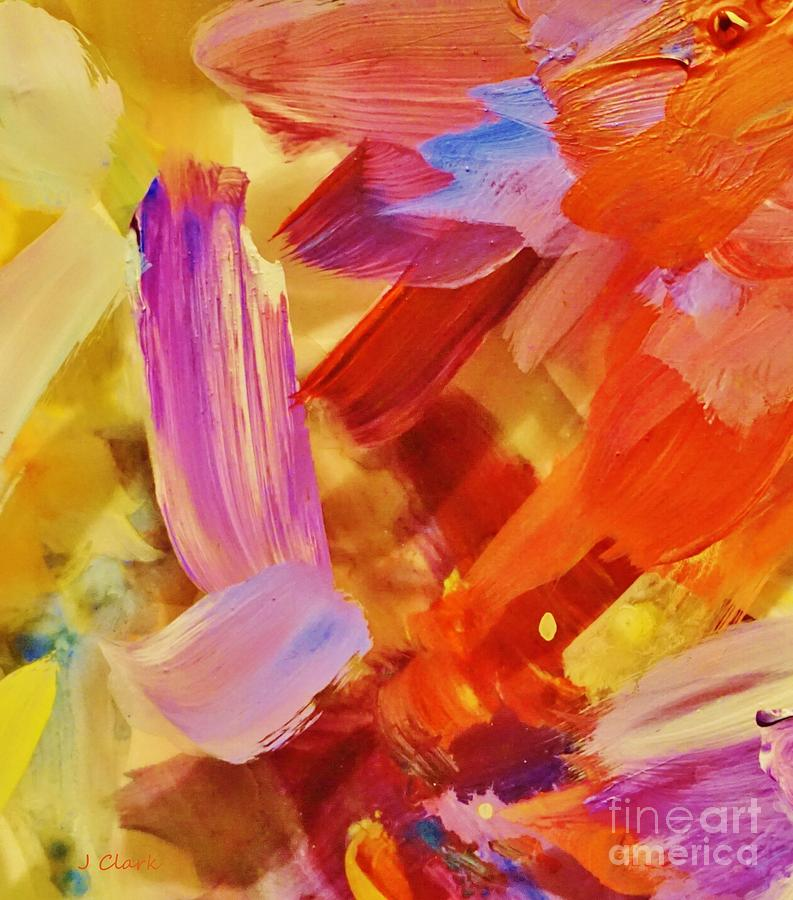 Abstract Painting - Bright Layers 1 by John Clark