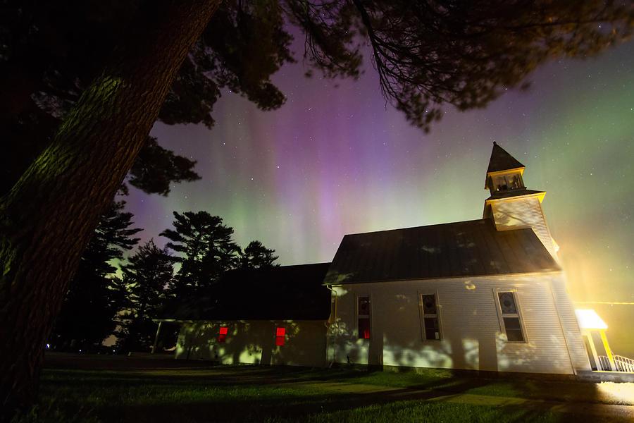 Aurora Borealis Photograph - Bright Service  by Lorraine Matti