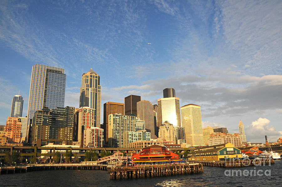 Bright Skies Over Seattle by Sarah Schroder