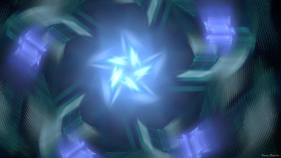 Star Digital Art - Bright Star  by Tommy Reynolds