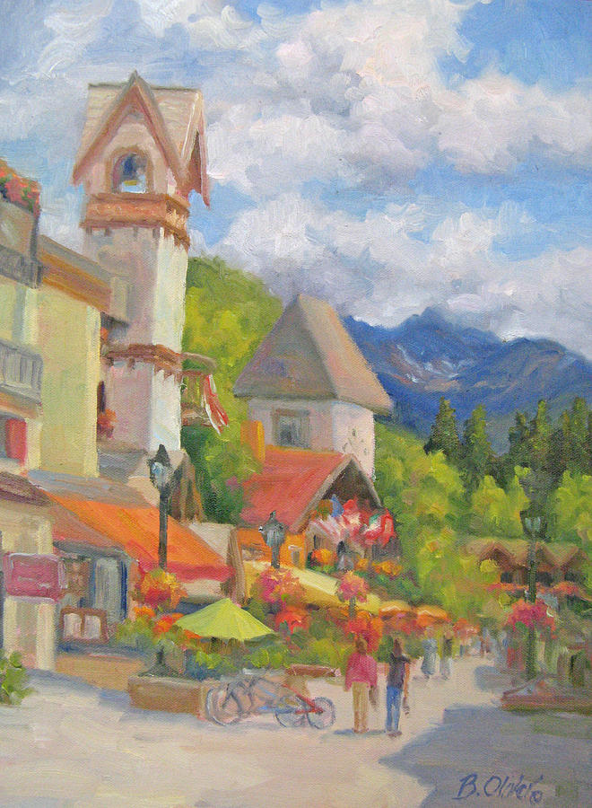 Summer Painting - Bright Summer Day by Bunny Oliver