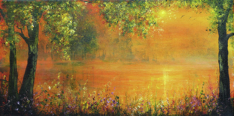 Wild Flowers Painting - Brightest Spring by Ann Marie Bone