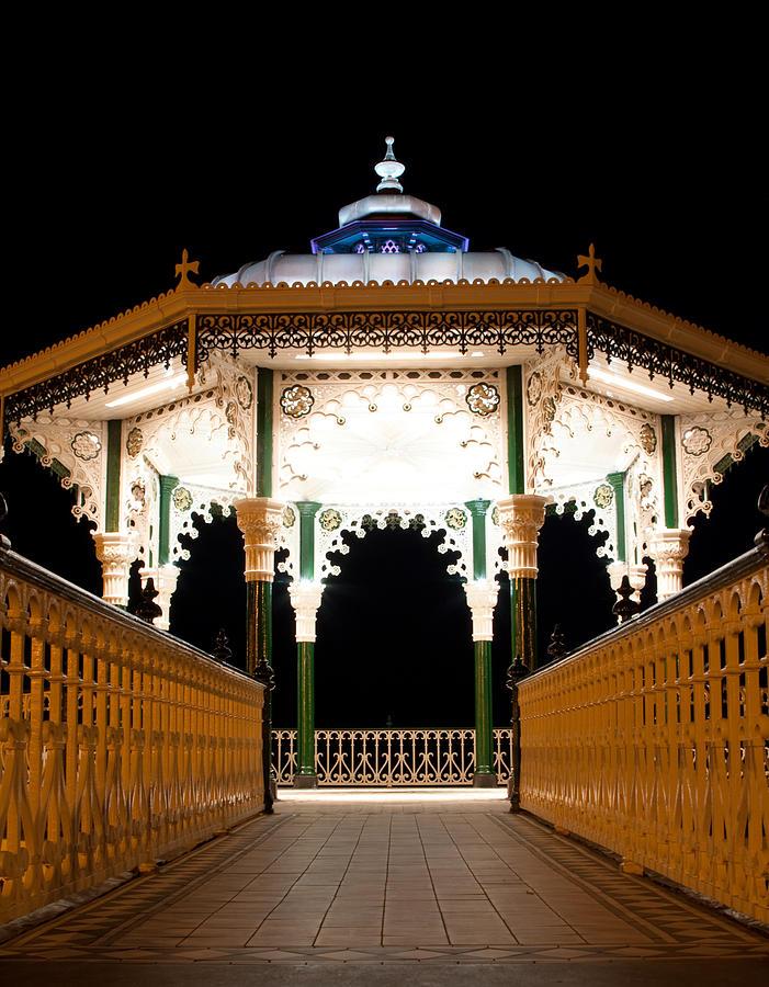 Brighton Photograph - Brighton Bandstand by Darren Kearney