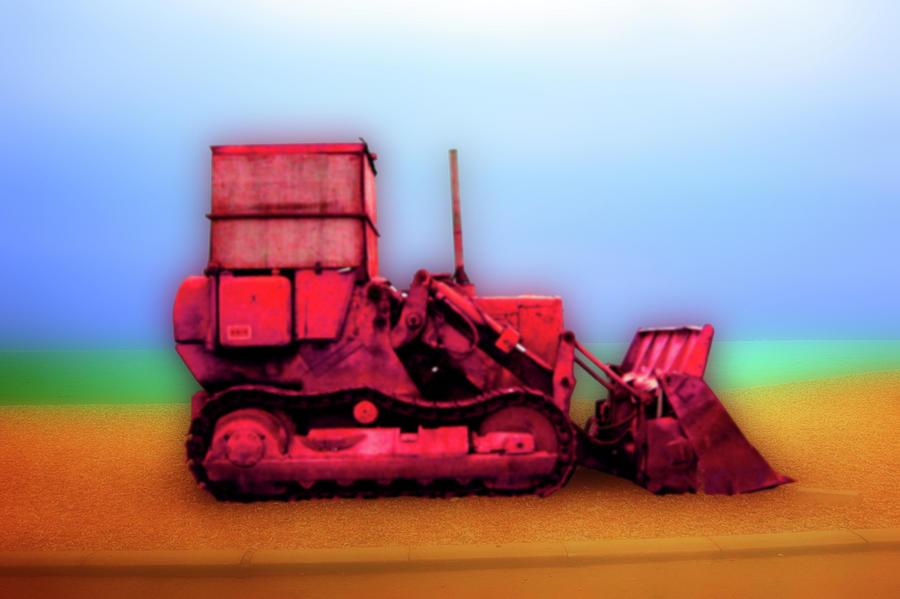 Brighton Photograph - Brighton Bulldozer by Nigel Chaloner