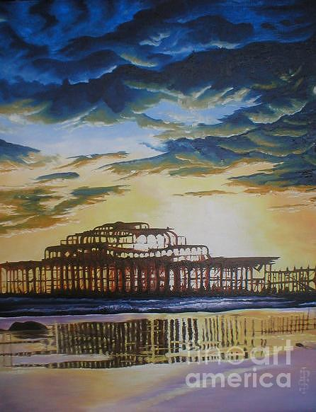 Brighton West Pier Painting by Pauline Sharp