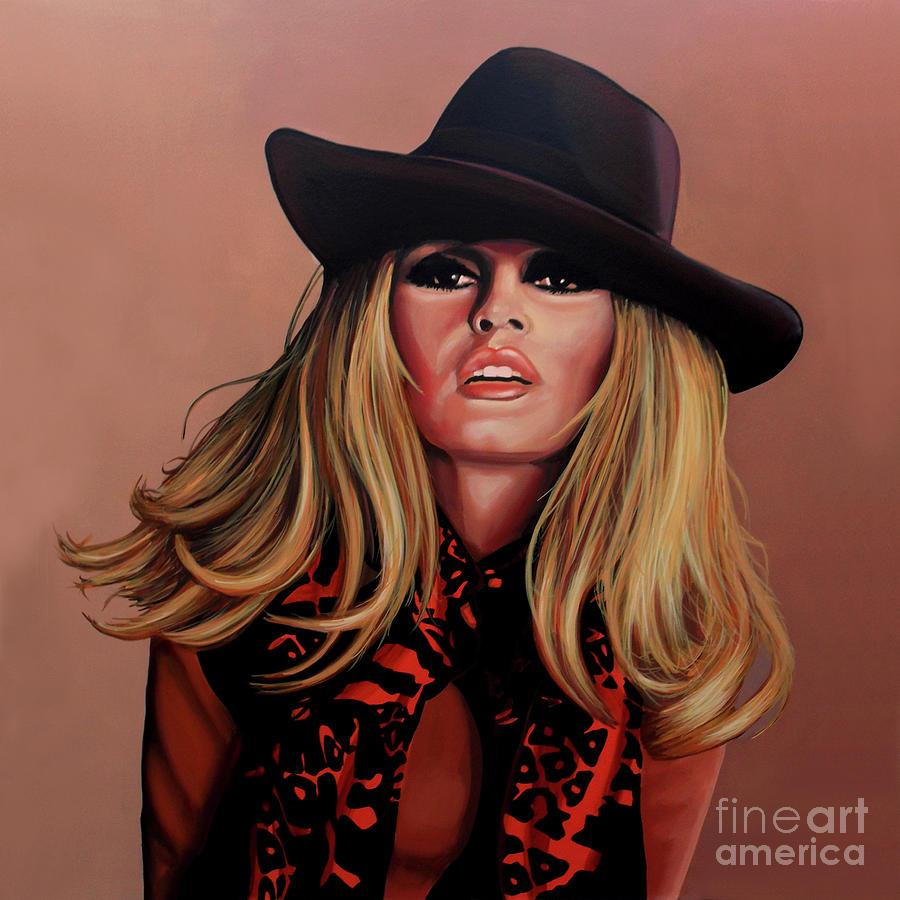 Brigitte Bardot Painting - Brigitte Bardot Painting 1 by Paul Meijering