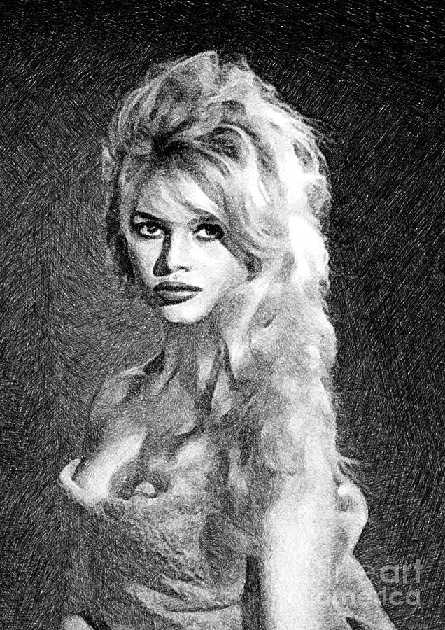 Brigitte Bardot, Actress By Js Drawing