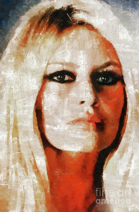 Hollywood Painting - Brigitte Bardot By Mary Bassett by Mary Bassett