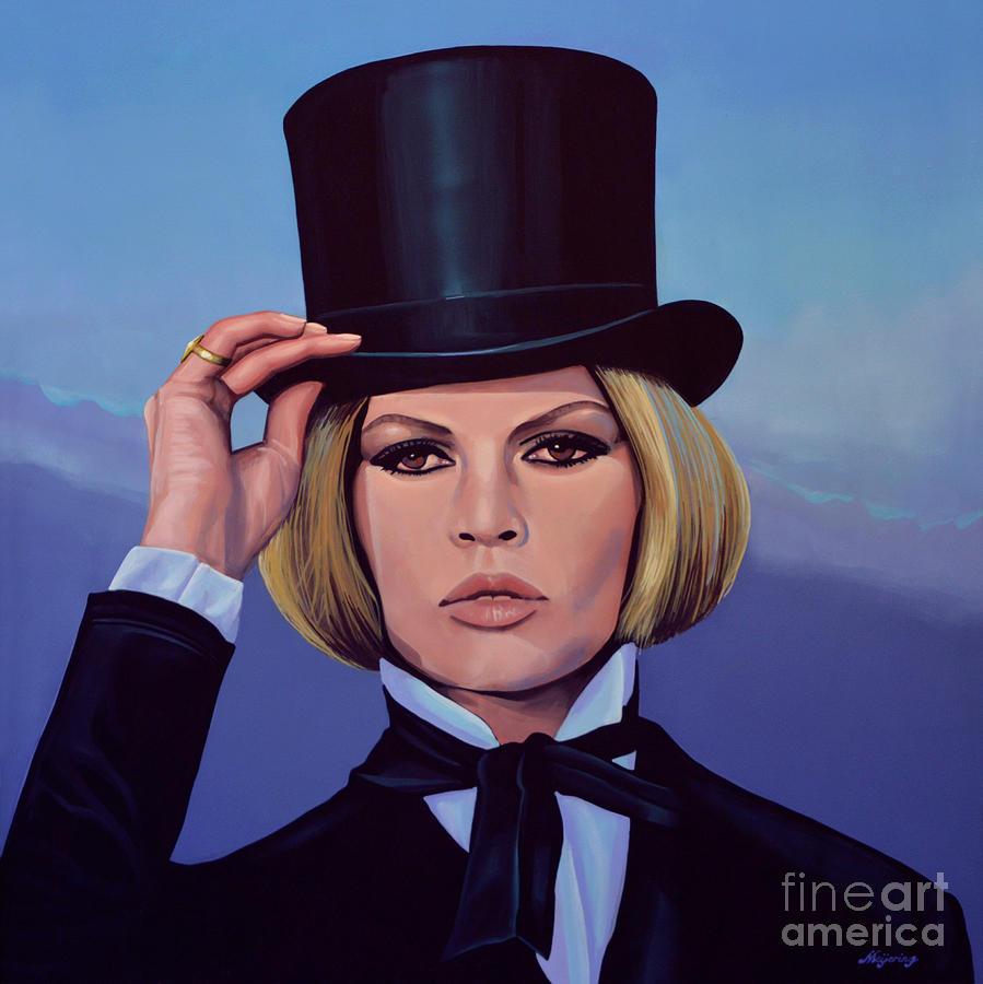 Brigitte Bardot Painting - Brigitte Bardot Painting 2 by Paul Meijering