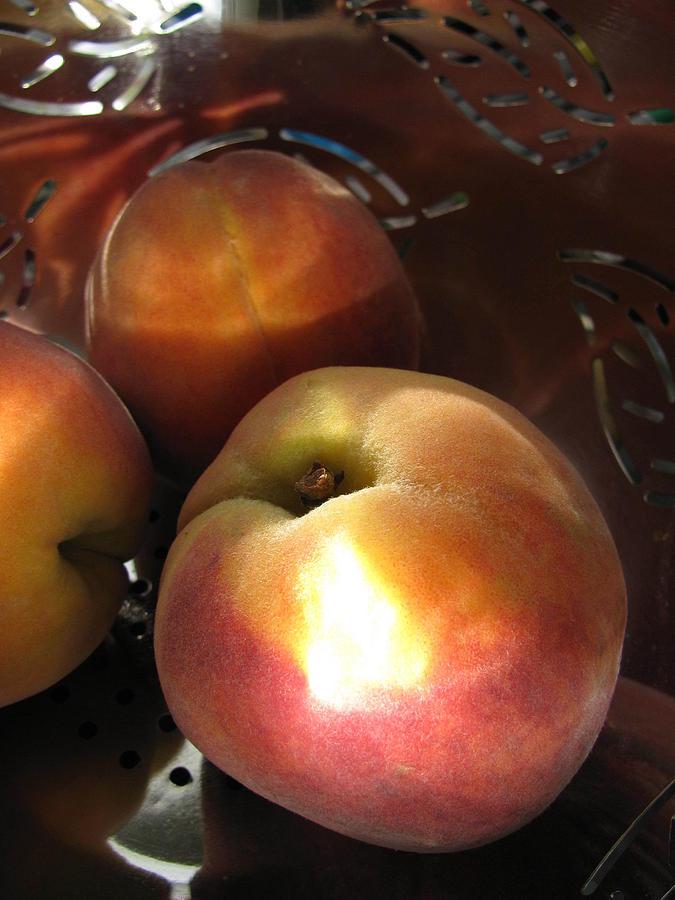 Food Photograph - Brilliant Peach by Lindie Racz