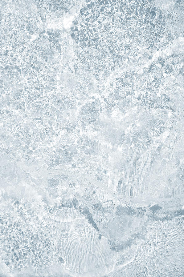 Water Photograph - Brilliant Shine. Series Ethereal Blue by Jenny Rainbow