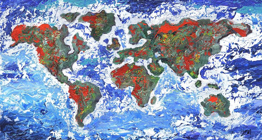 Earth Painting - Brilliant World by Linda Mears