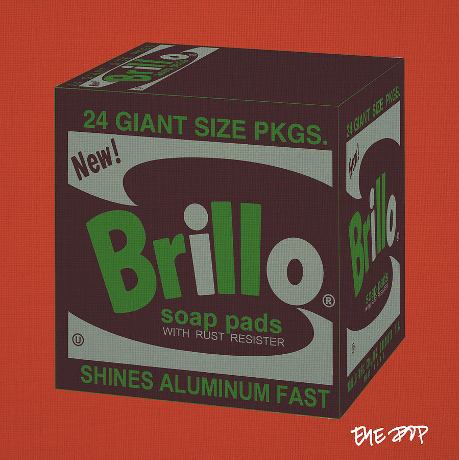 Brillo Box Colored 1 - Warhol Inspired Digital Art by Peter Potamus