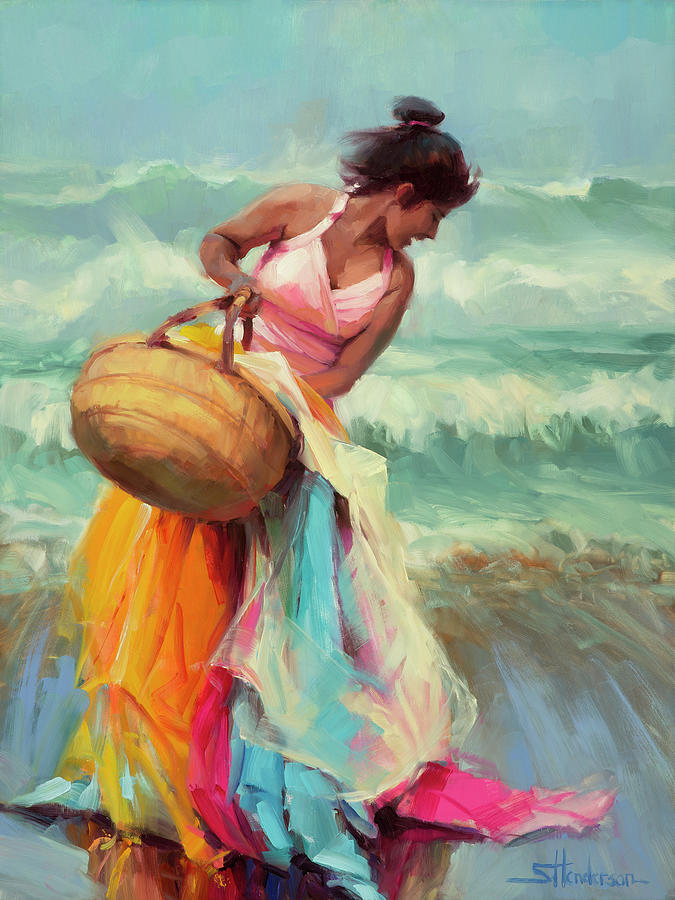 Beach Painting - Brimming Over by Steve Henderson