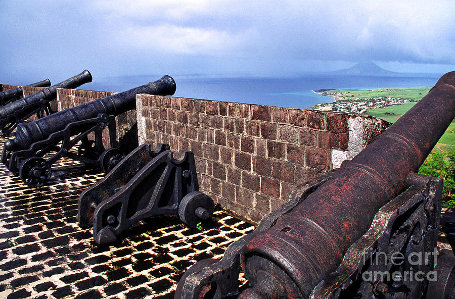 West Indies Photograph - Brimstone Hill Fortress Canons by Thomas R Fletcher