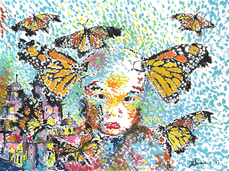 Monarch Butterflies Painting - Bring Her Home Safely, Morelia- Sombra De Arreguin by Doug Johnson