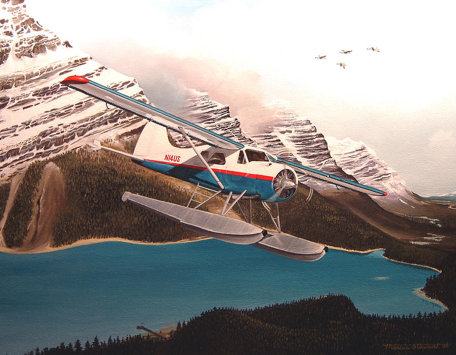 Aviation Painting - Bringing Home The Groceries by Marc Stewart