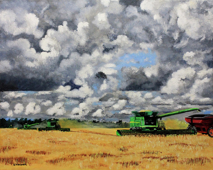 Bringing In the Last of the Harvest by Karl Wagner