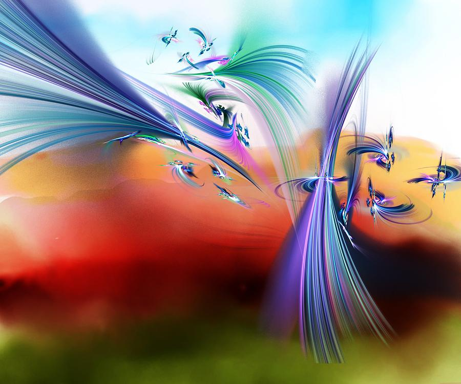 Flowers Digital Art - Bringing In The Light by David Lane