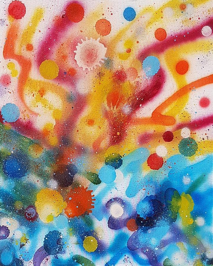 Spray Paint Painting - Bringing Life Spray Painting  by Julia Woodman