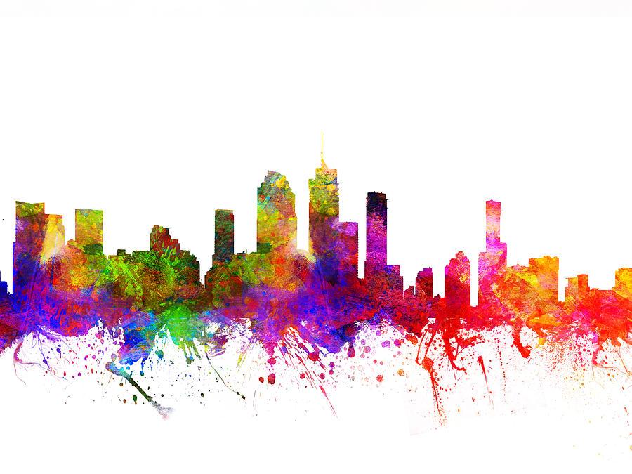 Brisbane Drawing - Brisbane Australia Cityscape 02 by Aged Pixel