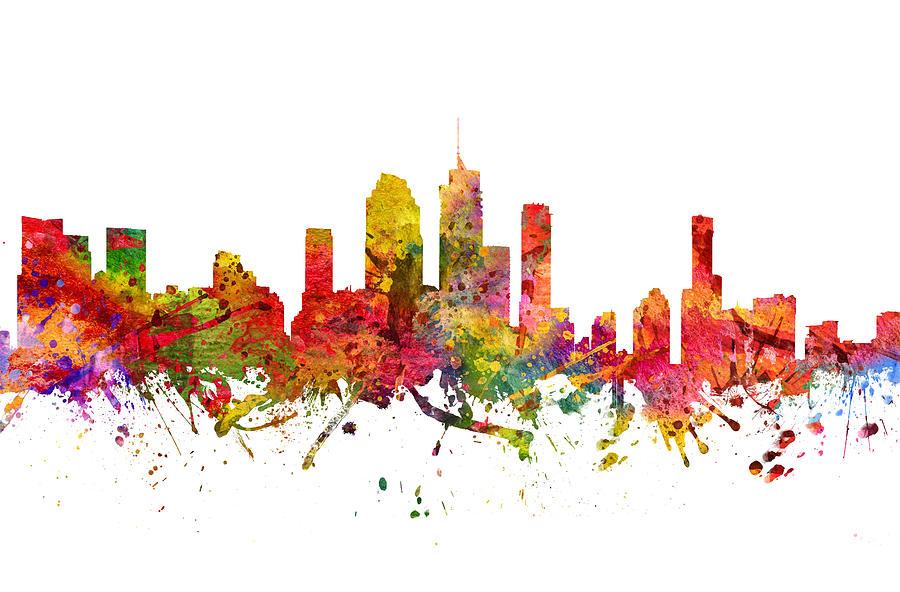 Brisbane Drawing - Brisbane Australia Cityscape 08 by Aged Pixel