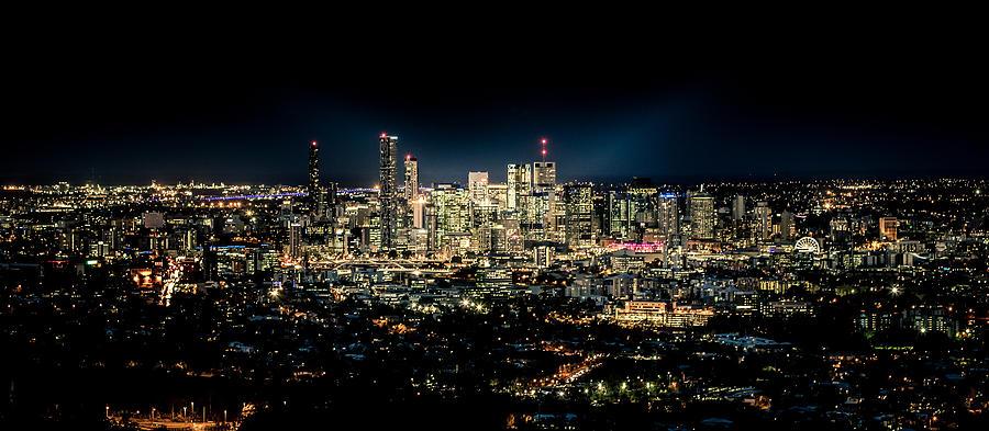 Brisbane Photograph - Brisbane Cityscape From Mount Cootha #7 by Stanislav Kaplunov