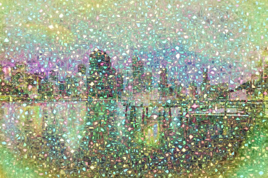 Brisbane Digital Art - Brisbane Connected City by Chris Hood