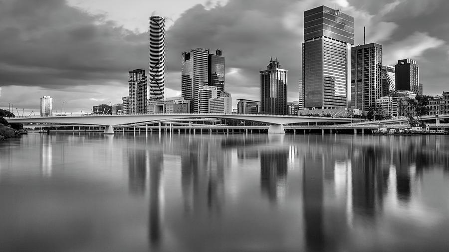 Brisbane Victoria Bridge and CBD.  by Michael Lees