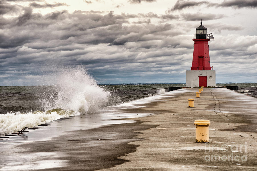 Brisk Afternoon At Menominee Harbor by Ever-Curious Geek