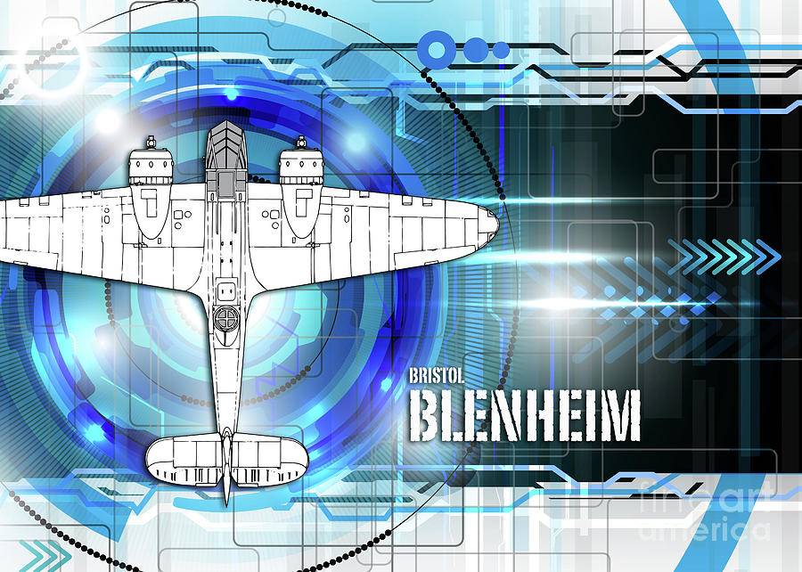 Bristol blenheim blueprint digital art by j biggadike bristol digital art bristol blenheim blueprint by j biggadike malvernweather Image collections