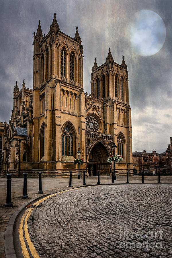 Cathedral Photograph - Bristol Cathedral by Adrian Evans