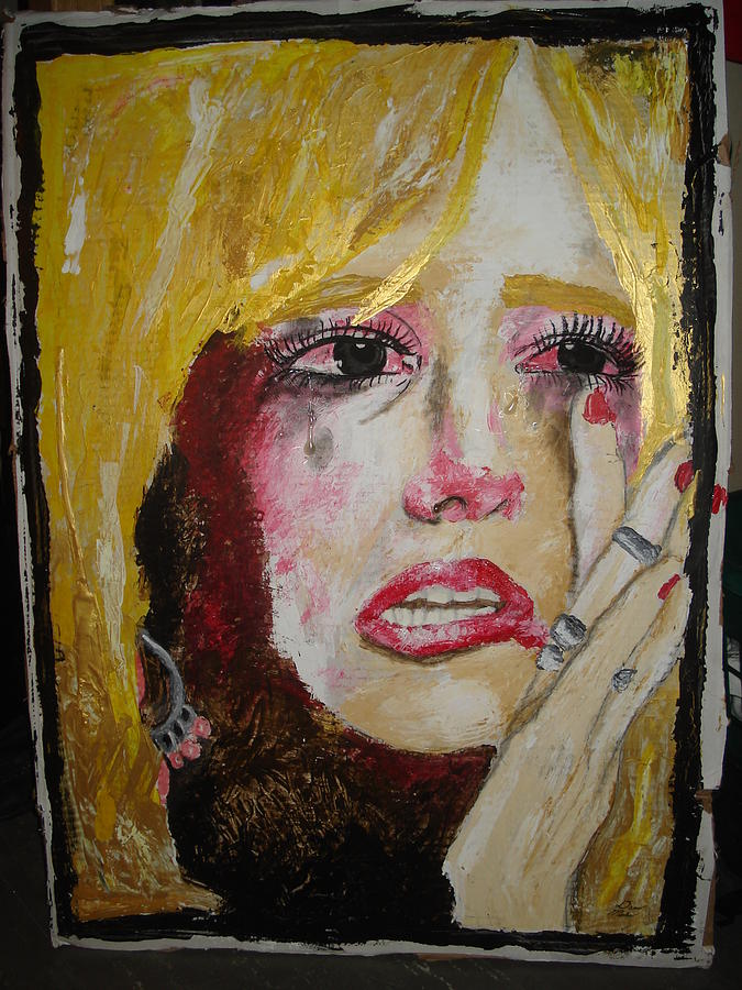 Britany Spears Tears Painting by Dario Mohr