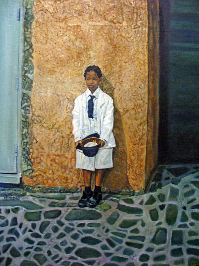 British Boy Painting by Morris T Howard