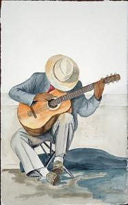 Guitar Painting - British Columbia Man by Diane Ziemski