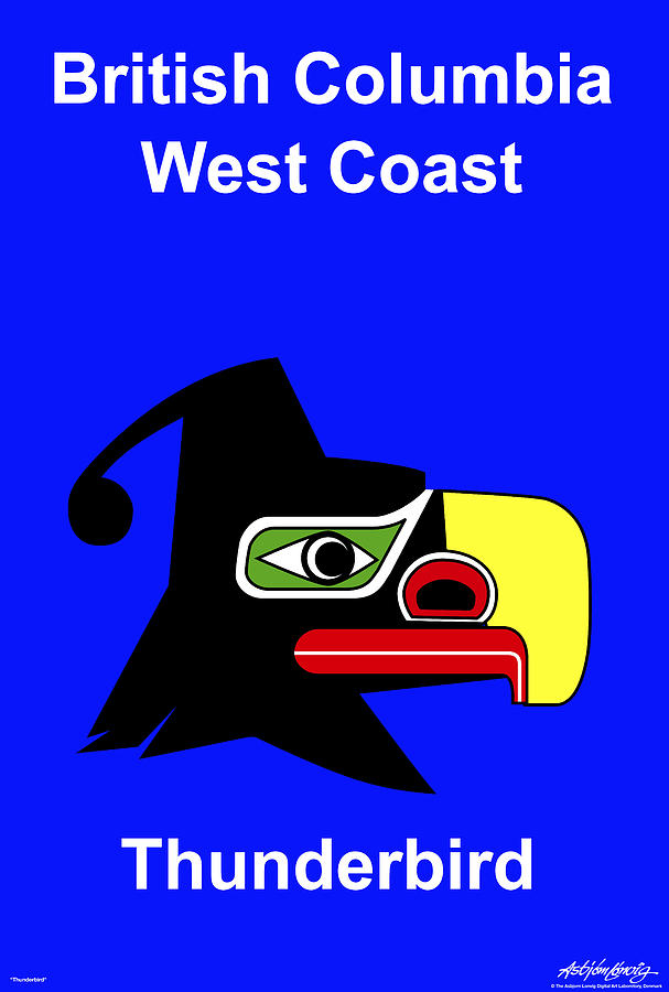 British Columbia West Coast Digital Art by Asbjorn Lonvig