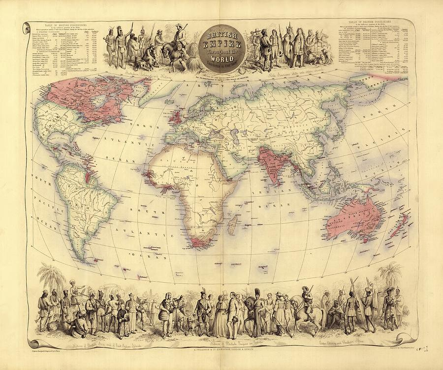 British Empire Photograph - British Empire World Map, 19th Century by Library Of Congress
