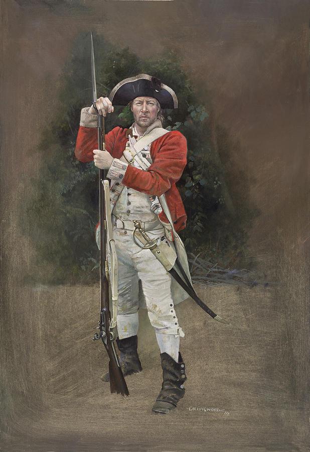 Redcoat Painting - British Infantryman C.1777 by Chris Collingwood