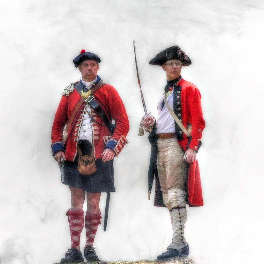 Uniform Digital Art - British Officer And Soldier by Randy Steele