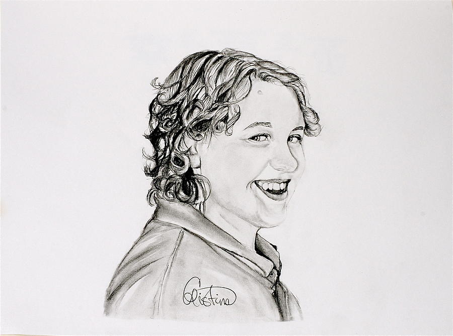 Pencil Drawing Drawing - Brittany A.  by Cristina Sofineti