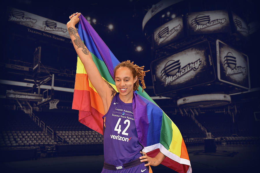 Brittney Griner Photograph - Brittney Griner LGBT PRIDE 1 by Devin Millington