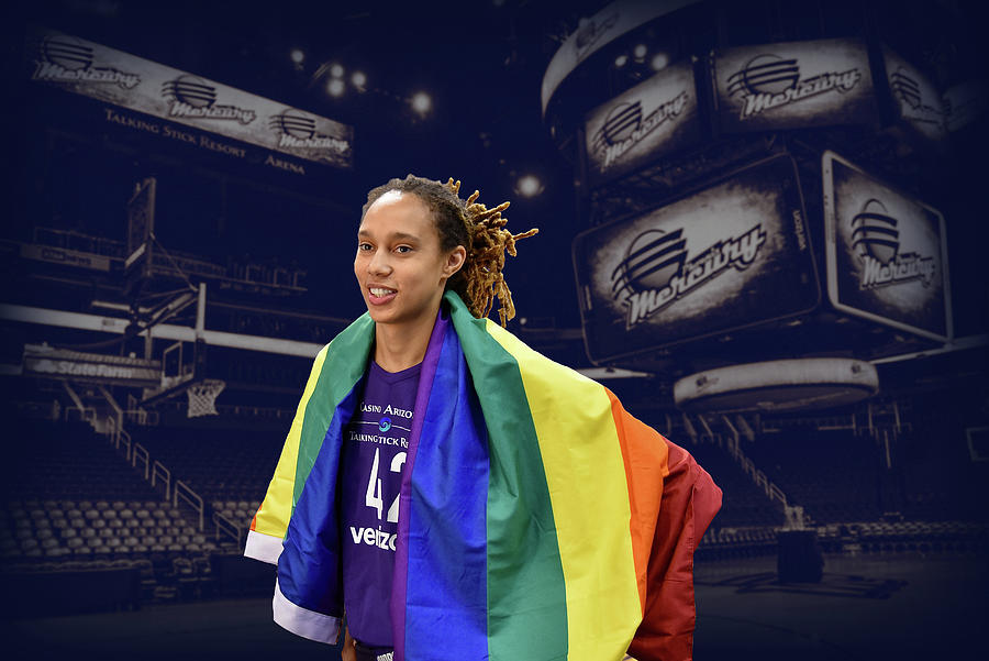 Brittney Griner Photograph - Brittney Griner LGBT PRIDE 4 by Devin Millington